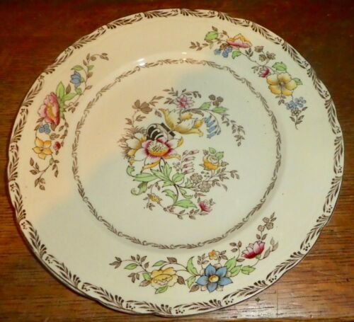 """Alfred Meakin JEROME Royal Marigold Floral Dinner Plate 9-7/8"""" PO"""