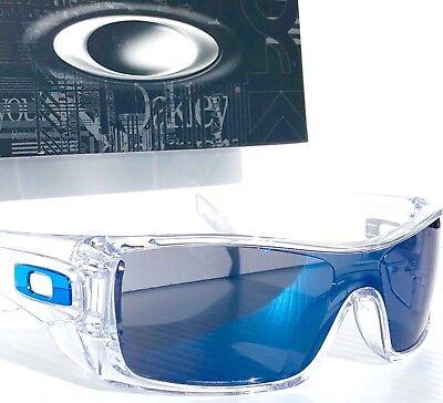 NEW* Oakley BATWOLF CLEAR w ICE IRIDIUM & Chrome Icon Sunglass oo9101-07