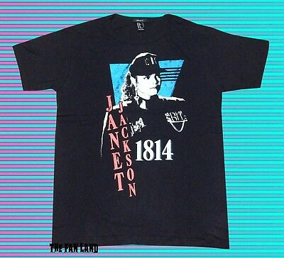 New Janet Jackson Rhythm Nation 1814 Womens 1989 Vintage T Shirt