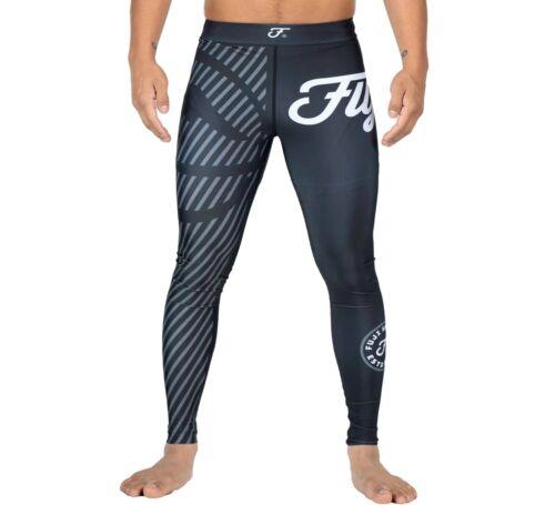 Fuji Sports Script MMA BJJ No Gi Competition Spats Compression Pants - Grey