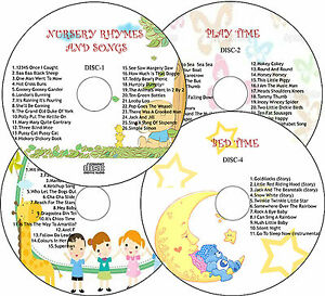 CHILDREN-NURSERY-RHYMES-SONGS-PLAYTIME-PARTY-TIME-BEDTIME-STORIES-4-CD-SET