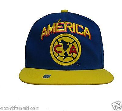 Club America Snapback Adjustable Cap Hat - Yellow - Blue - Red ()
