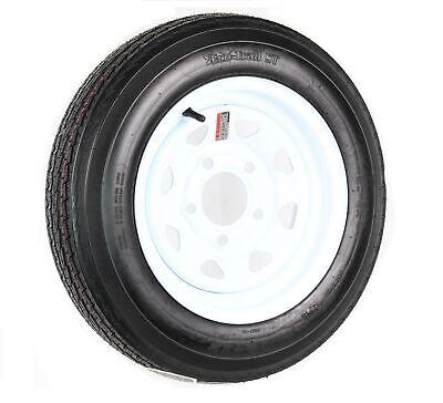 Trailer Tire On Rim 480-12 4.80-12 4.80x12 in. LRC 5 Bolt Hole White Spoke Wheel