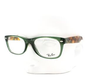 113821a61f Ray-Ban RB 5184 5630 Wayfarer Eyeglasses Glasses Opal Green ~ Green Havana  50mm