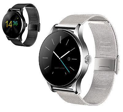 Smartwatch Edelstahl Bluetooth Uhr Samsung Sony Huawei Apple LG HTC Motorola