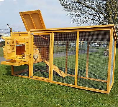 CHICKEN COOP RUN HEN HOUSE POULTRY ARK HOME NEST BOX COUP COOPS