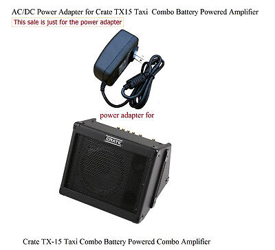 AC Power Adapter for Crate TX15 Taxi Powered Combo Amp TX-15