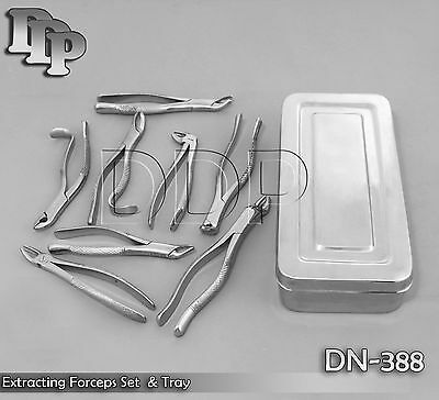 Extracting Set Surgical Dental Instruments Forceps Tray Dn-388