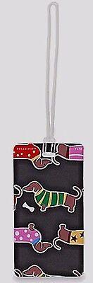 Dachshund Dog Suitcase Luggage Tag ID Card-Use on Backpacks, Gym Bags, Anything!