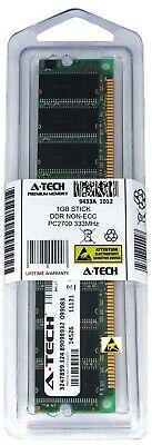 1g 1gb 333mhz Ddr Pc - A-Tech 1GB PC2700 Desktop DDR 333 MHz DIMM 184pin DDR1 Low Density Memory RAM 1G