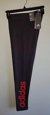 caa410ba7d7 Adidas Women's SMALL Essentials Linear Tights CF8869 Pants Gray Coral Run  #37518