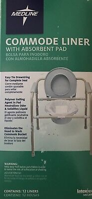 Medline Mds89664liner Commode Liners With Absorbent Pads