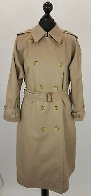 BURBERRY WOMEN SIZE UK14  DOUBLE BREASTED TRENCH RAINCOAT MAC BEIGE