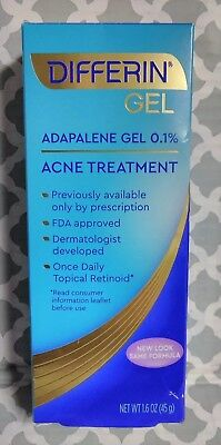 Differin Adapalene Gel 0.1% Acne Treatment, 1.6 oz exp:11/2021 ()