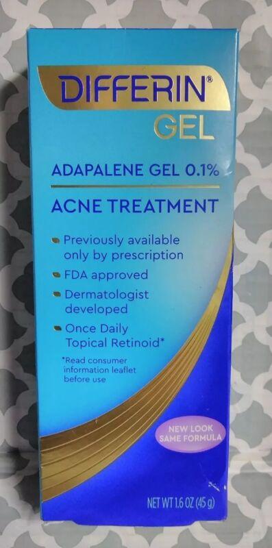 Differin Adapalene Gel 0.1% Acne Treatment, 1.6 oz exp:11/2021