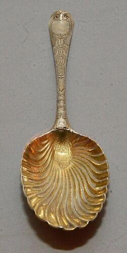 Georgian English Sterling Silver Ornate Serving Spoon - ET maker London 1771