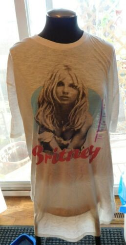 Britney Spears White Athletic Fit Shirt Size XXL NWT