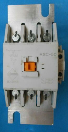 BENSHAW RSC-50-6AC120 MAGNETIC CONTACTOR 50 AMPS - 480 AC COIL RECONDITION