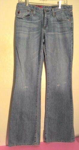 AG ADRIANO GOLDSCHMIED THE ANGEL Womens Distressed Blue Jeans Size 28 R