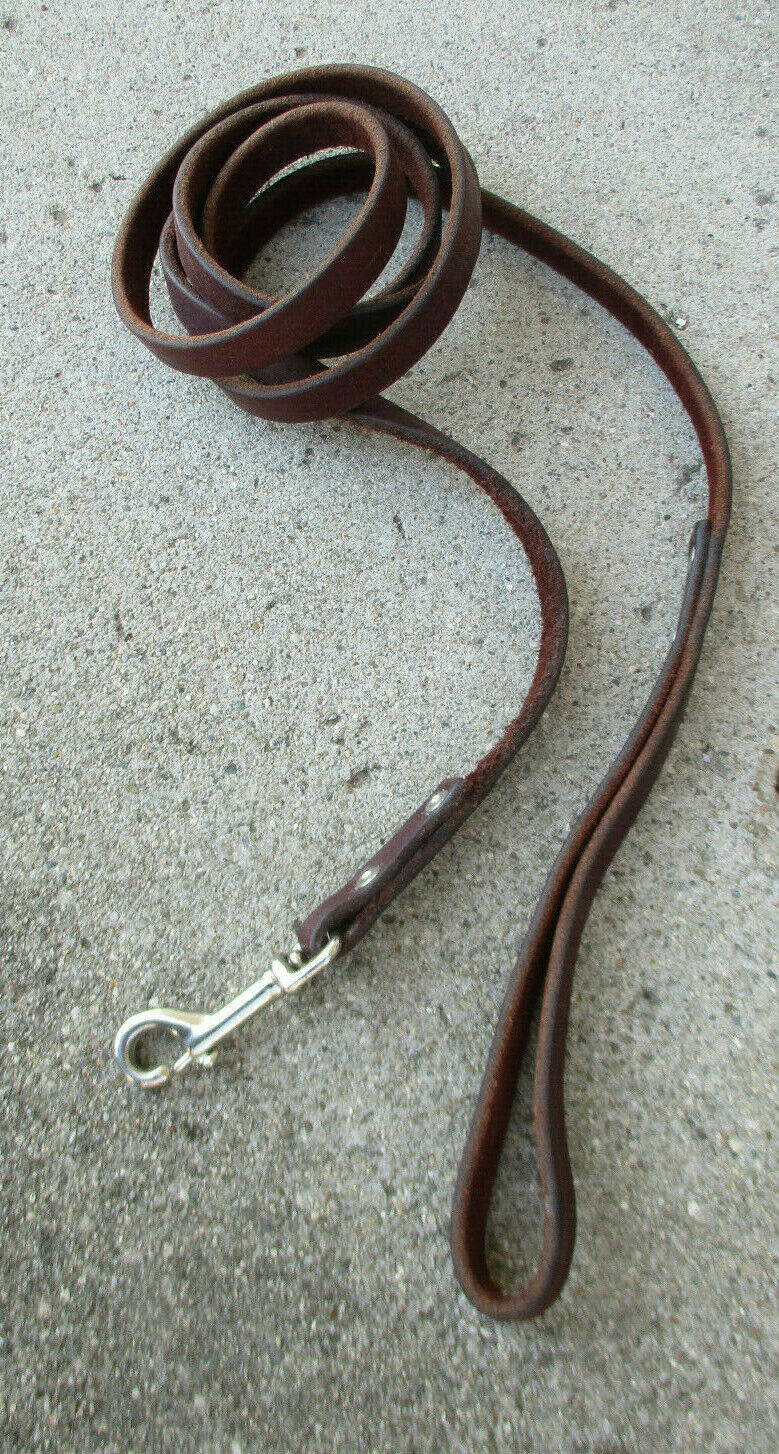 Brown Leather Dog Lease 44 Inches Long - $21.00