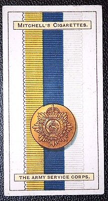 Army Service Corps    Original World War 1      Vintage  Ribbon & Badge Card