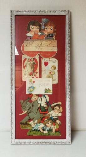 Vintage Valentines Day Cards Framed
