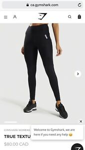 GYMSHARK LEGGING M BLACK