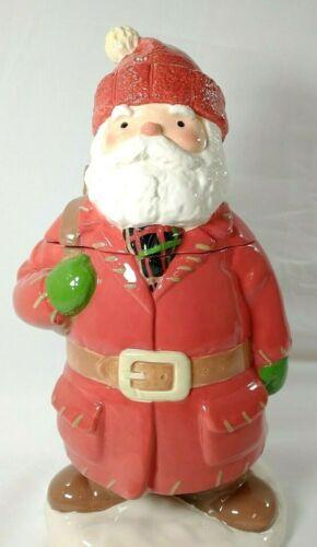 Vintage Hallmark Santa Claus Cookie Treat Jar Porcelain Toy SackChristmas