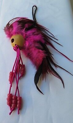 "Ikaika Hawaiian Warrior Helmet Car Decor ~ 1"" Kamani Nut / Pink ( QTY 2 )"