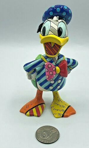 "Disney Romero Britto Fantasia Donald Duck Figurine 7.5"" EXCELLENT Artist Signed"