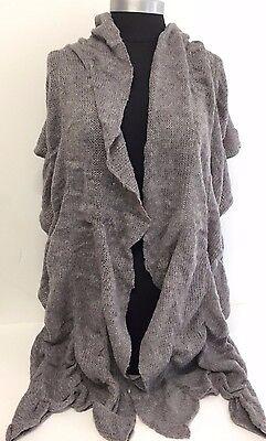 NEW Women Winter Warm Knit Wool Long Scarf SHAWL Wrap Stole Soft Solid Gray