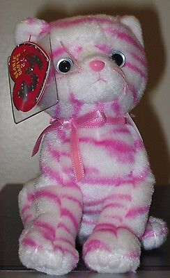 Ty 2.0 Beanie Baby ~ PURRY the Cat ~ MINT with MINT TAGS ~ Stuffed Animal Toy
