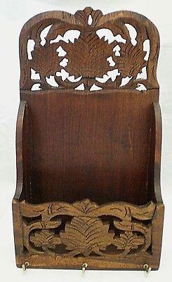 Vintage Wooden Fretwork Letter Rack