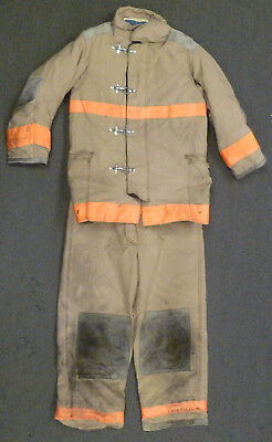 Firefighter Set Jacket 42x35 Pants 42x32 Suspenders Turnout Gear Janesville S30