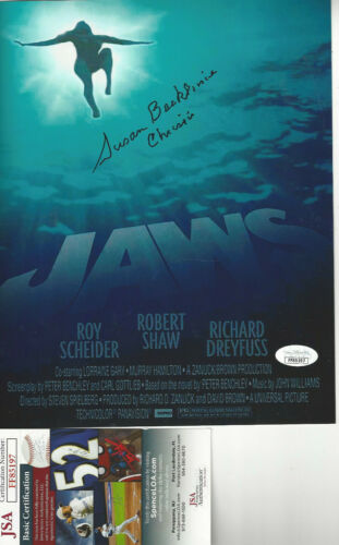 JAWS 1st Victim autographed 8x10 color photo  shark looking up JSA Certified