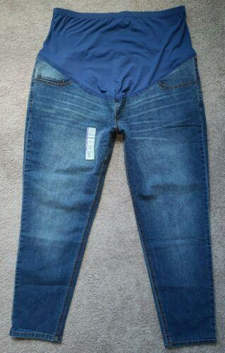 2X Time and Tru Maternity Lightweight Stretch Denim Skinny Jeans Women