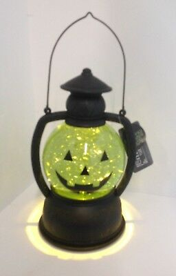 Halloween Lighted Lantern Snow Globe with Swirling Glitter On/Off Switch - Halloween Snowglobe