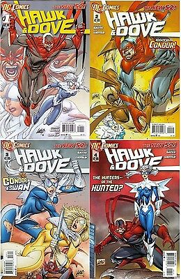 HAWK & DOVE 1 2 3 & 4 1st PRINT VFNM or better 2011 5th DC SERIES NEW
