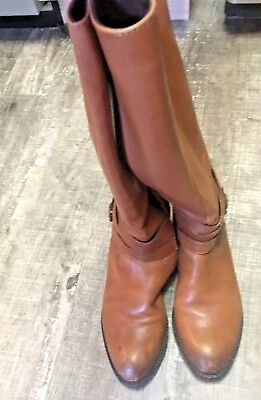 Womens Pennies - WOMENS USED SAM EDELMON PENNY RIDING BOOTS SIZE 6 Brown