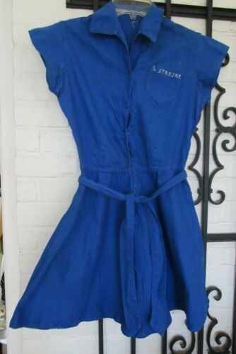 Vintage 60's Chicago Girls Blue Gym Suit skirt no shorts Small
