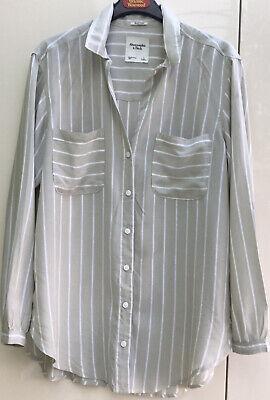 Abercrombie& Fitch Grey Boyfriend Shirt (L)