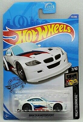 2020 Hot Wheels J Case - #172 White BMW Z4 M Motorsport Nightburnerz