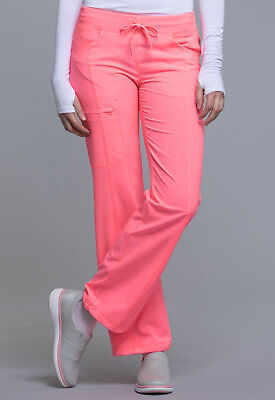 Coral Craze Cherokee Scrubs Infinity Drawstring Pant 1123A COCR Antimicrobial