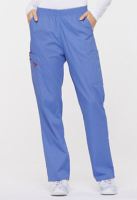 Ciel Blue Dickies Scrubs EDS Signature Natural Rise Pull On Pants 86106 CIWZ ()