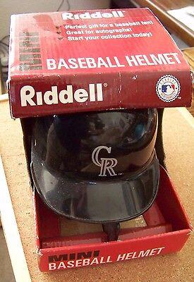 Riddell Replica Mini Baseball Helmet - Riddell replica mini baseball batting helmet Colorado Rockies MLB