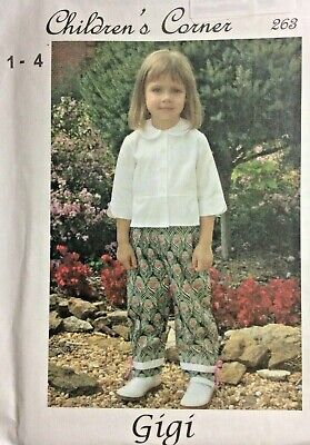 4 Childrens Corner Pattern - CHILDREN'S CORNER PATTERN #263 GIGI- SIZES 1-4