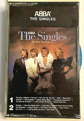 """ABBA - Singles """"The First Ten Years"""" Cassette - 1975 Atlantic 80036-4-G - SEALED"""