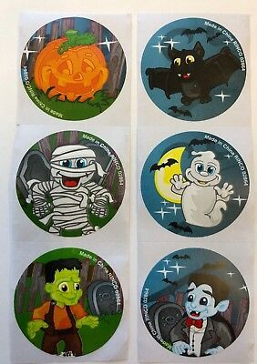 50 Halloween Trick or Treat Stickers Party Favors Teacher Supply bat ghost - Trick Or Treat Halloween Party