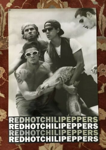 RED HOT CHILI PEPPERS  On Warner Bros Records   rare original promotional poster