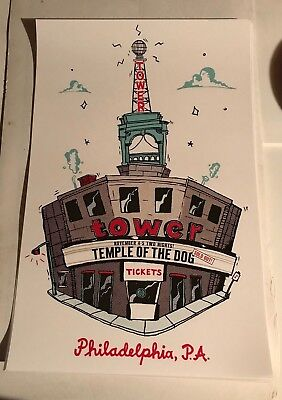 Temple of the Dog 2016 Tower Theater Poster Chris Cornell Vedder Pearl Jam Darby